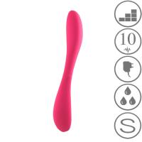 Nodivein GOGO - Silikoninen G-pistevibraattori, pinkki LADATTAVA