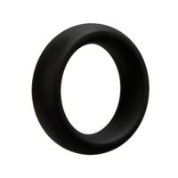 Nodivein STRON - Silikoninen paksu penis-/kivesrengas, musta