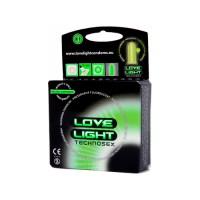 Love Light - Pimeässä hohtavat kondomit, 3kpl